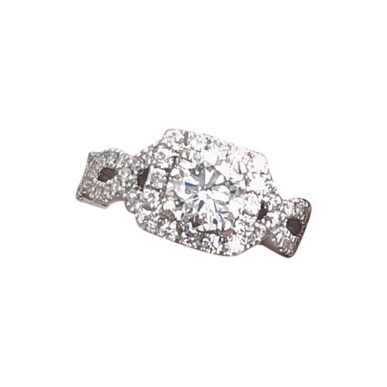 ce3c11896 Neil Lane Diamond Engagement Ring 1.46 Carat 14 Karat White Gold For Sale at  1stdibs