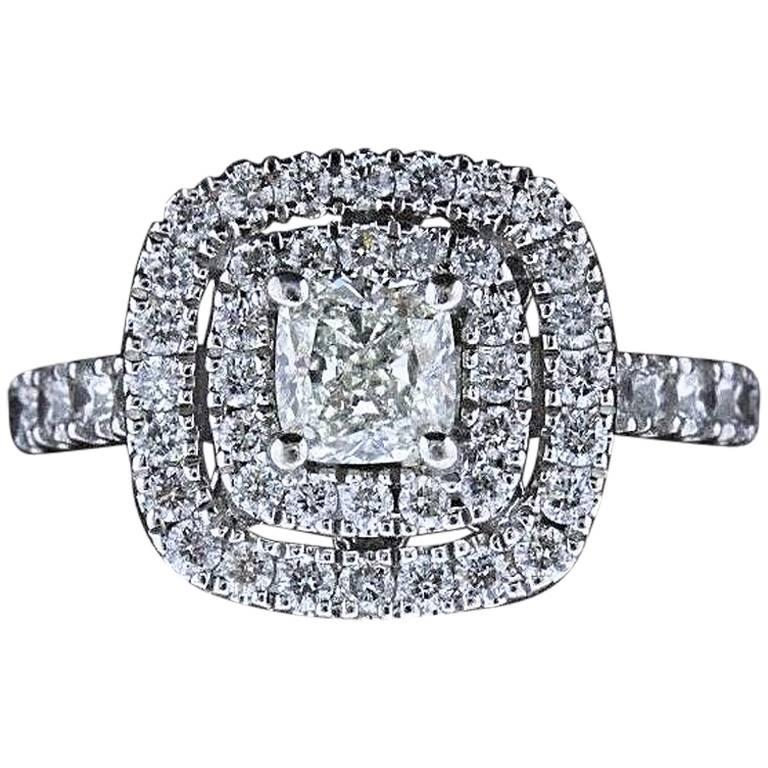 Neil Lane Diamond Engagement Ring Cushion Cut Center 1 1/8