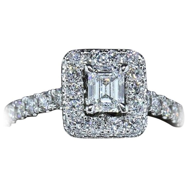 9e51036278ab8 Neil Lane Diamond Engagement Ring Emerald Cut 1 1/2 Carat SI1 14 Karat Gold