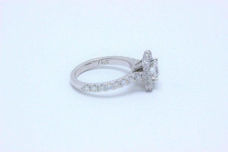 c1c0baa7324de Neil Lane Diamond Engagement Ring Emerald Cut 1.375 Carat in 14 Karat White  Gold