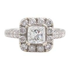 Neil Lane Diamond Engagement Ring Princess 2.00 TCW in 14 Karat White Gold