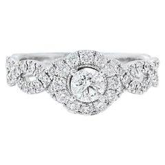 582e3046b Neil Lane Diamond Engagement Ring Round 1.00 Carat in 14 Karat White Gold