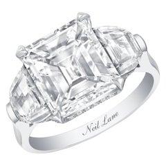 Neil Lane Couture Design Emerald-Cut Diamond, Platinum Ring