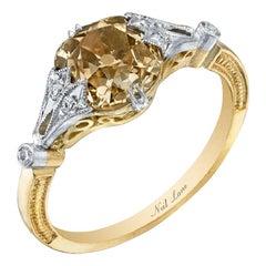 Neil Lane Couture Design Fancy Color Old Mine Brilliant-Cut Diamond Gold Ring