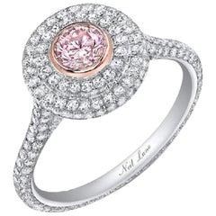 Neil Lane Couture Design Light Pink Diamond, Platinum Ring