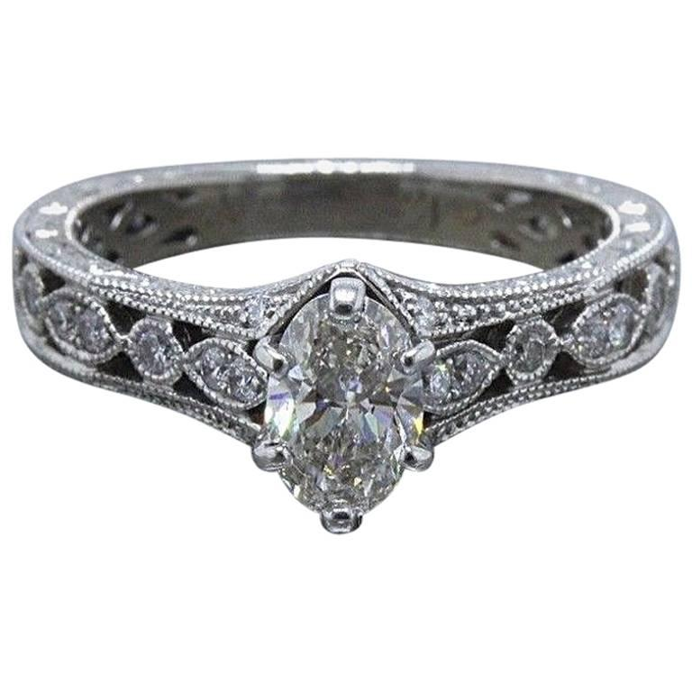 Neil Lane Marquise Diamond Engagement Ring 3 4 Tcw In 14 Karat White Gold For Sale At 1stdibs
