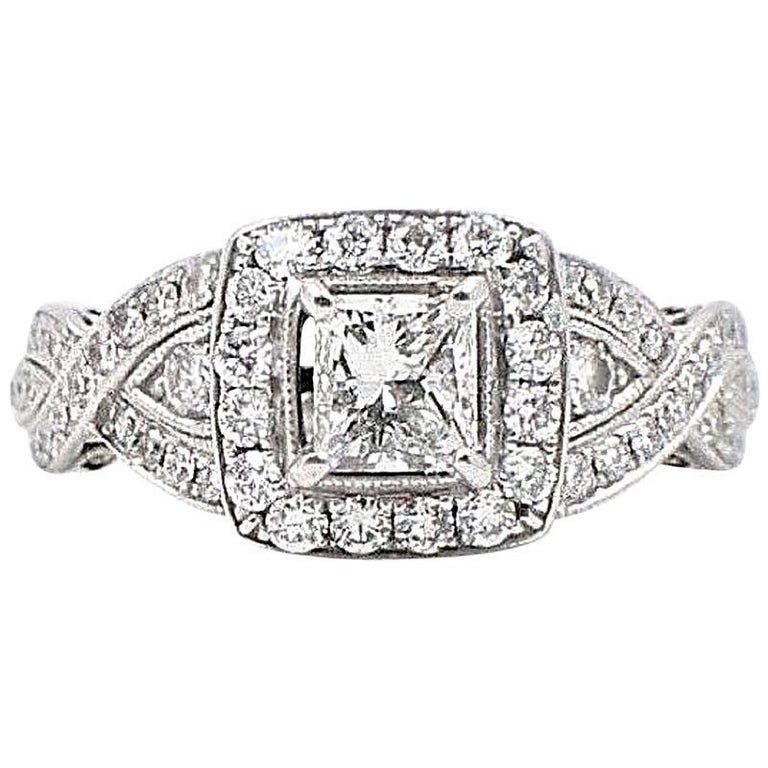 Neil Lane Princess Cut Enement Rings   Neil Lane Princess Cut Diamond Engagement Ring 1 38 Carat In 14