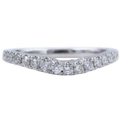 Neil Lane Wedding Band 1/3 Carat Diamonds and 14 Karat White Gold