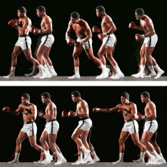 Ali Invents the Double-Clutch Shuffle, 1966, Photographic print, on Aluminum