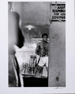 Muhammad Ali in Mirror, printed on Silver Gelatin Paper