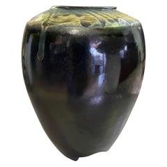 Neil Moss Signed Beautifully Glazed California Studio Pottery Ceramic Vase