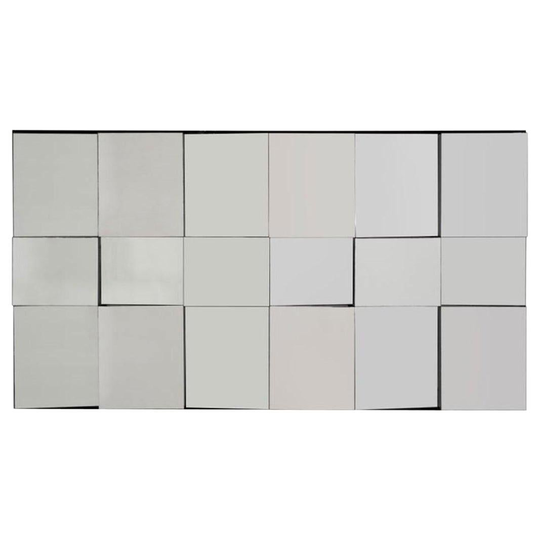 Neil Small Faceted Slopes Mirror Wall Sculpture