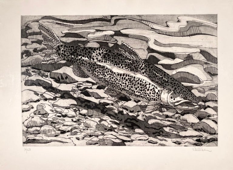 Neil Welliver Animal Print - BROWN TROUT