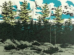 From Zeke's Place, Maine Landscape, Original Lithograph
