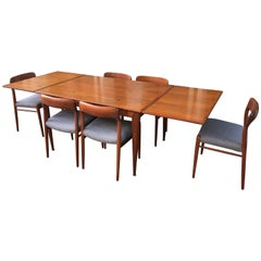 Neils Moeller Teak Table And 6 Chairs