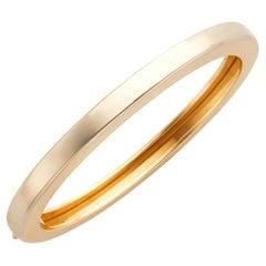 Neiman Marcus 18k Gold Polished Bangle Bracelet