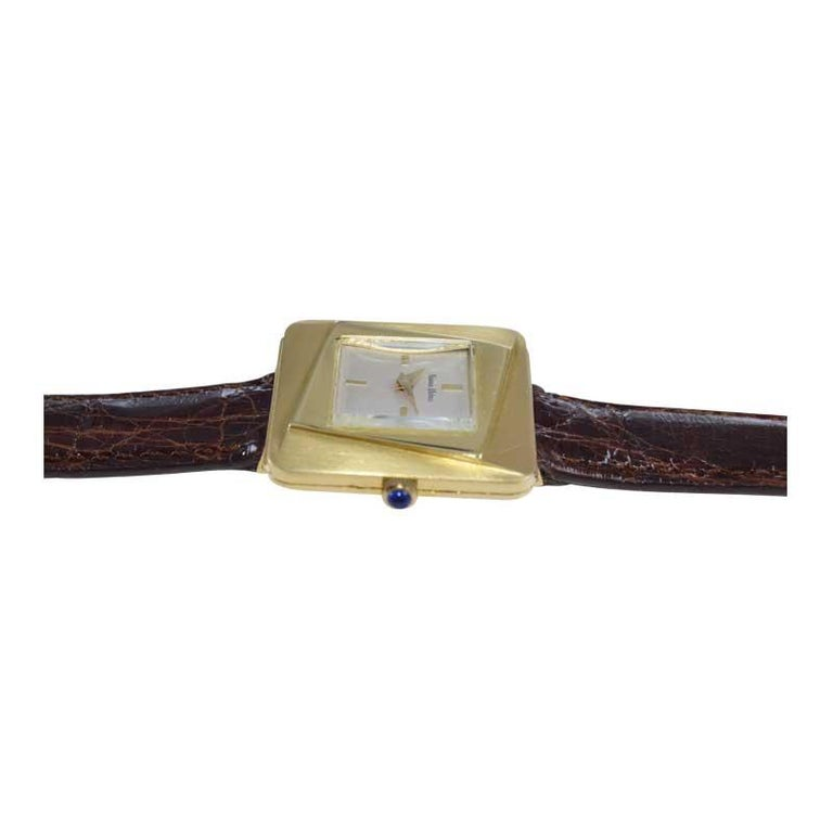 Neiman Marcus Mid Size Mid Century Wrist Watch in Excellent Original Condition For Sale 2