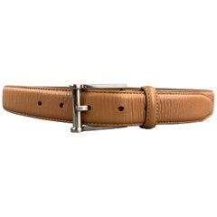 NEIMAN MARCUS Size 32 Tan Leather Belt