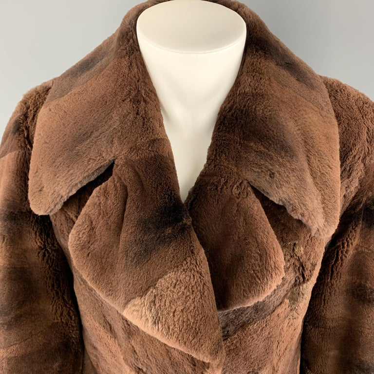 Women's NEIMAN MARCUS ZUKISize L Brown Muskrat Fur Vintage Coat For Sale