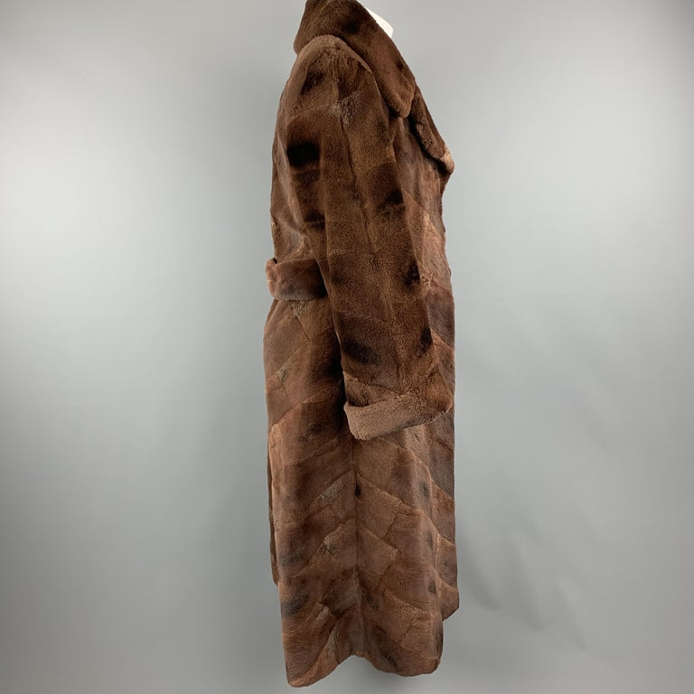 NEIMAN MARCUS ZUKISize L Brown Muskrat Fur Vintage Coat For Sale 1