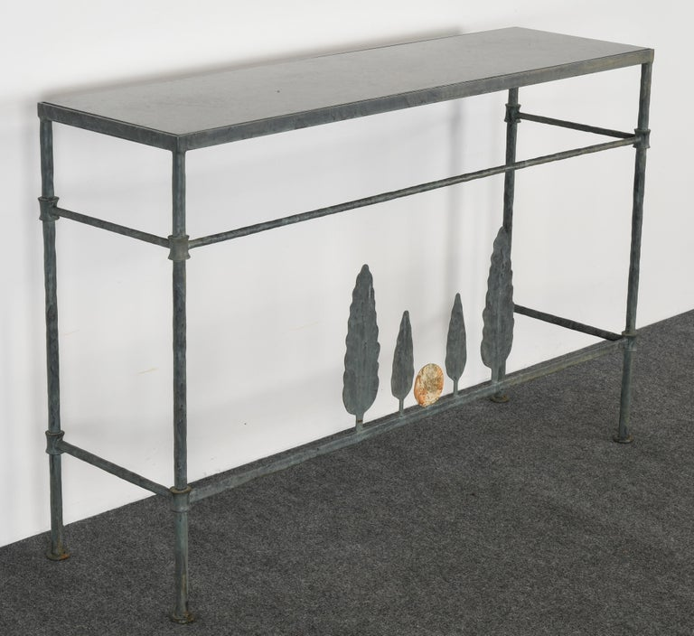 American Neirmann Weeks Giacometti Tree Console Table, 1980s For Sale