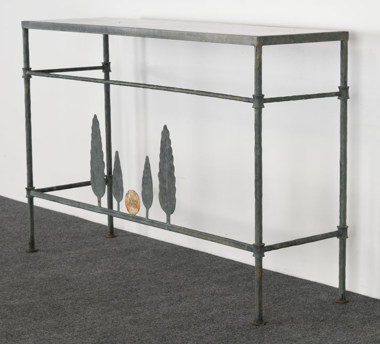 Neirmann Weeks Giacometti Tree Console Table, 1980s In Good Condition For Sale In Hamburg, PA