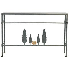 Neirmann Weeks Giacometti Tree Console Table, 1980s