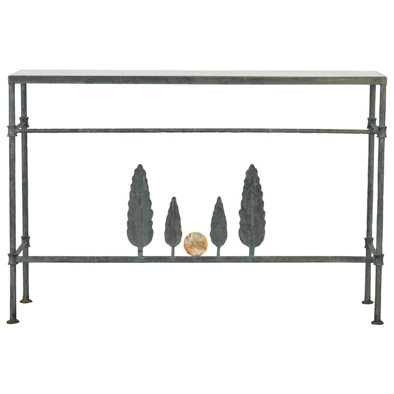 Neirmann Weeks Giacometti Tree Console Table, 1980s For Sale