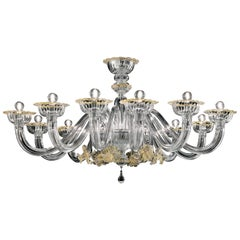 Nekhel 5705 12 Chandelier in Glass, by Barovier & Toso