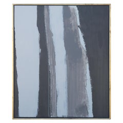 Minimal Grey Linear Contemporary Abstract Painting