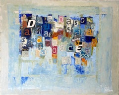 Lyrics Soup, Nélio Saltão, 2020, Contemporary, Mixed technique on canvas, Blue