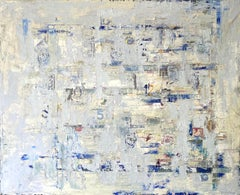 Rota do tempo, Nélio Saltão, 2020, Contemporary, Oil on canvas, Blue and grey
