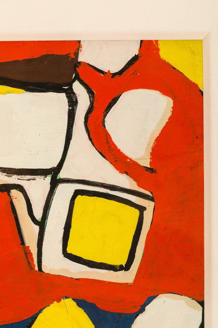 American Nell Blaine Abstract Gouache on Paper, USA, 1940s For Sale