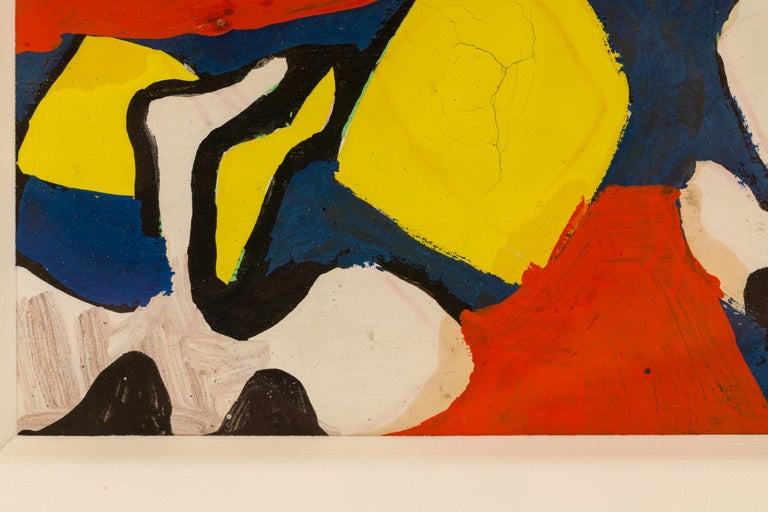 Nell Blaine Abstract Gouache on Paper, USA, 1940s In Good Condition For Sale In New York, NY