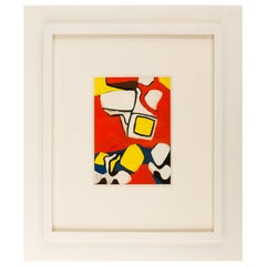 Nell Blaine Abstract Gouache on Paper, USA, 1940s