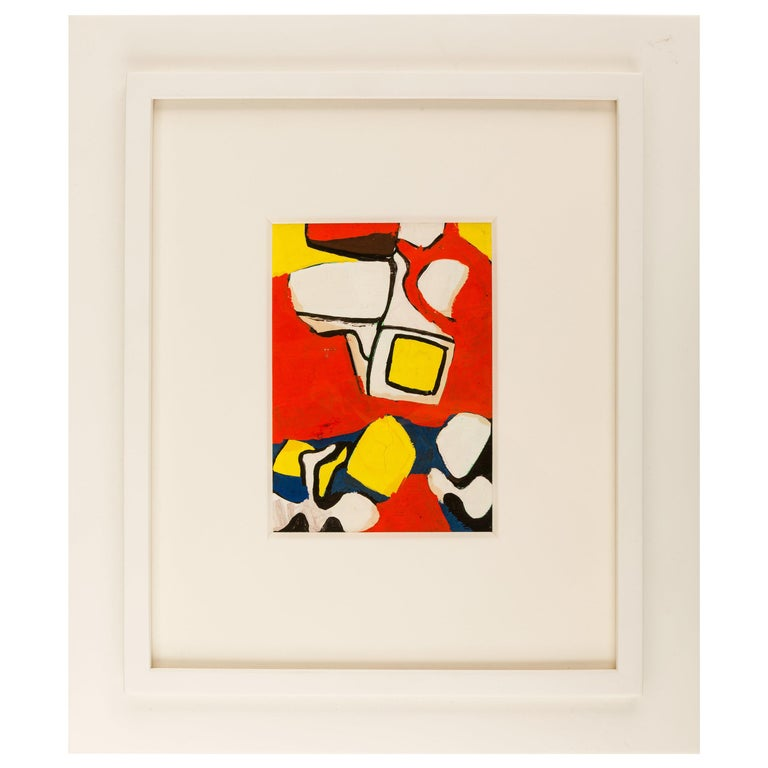 Nell Blaine Abstract Gouache on Paper, USA, 1940s For Sale