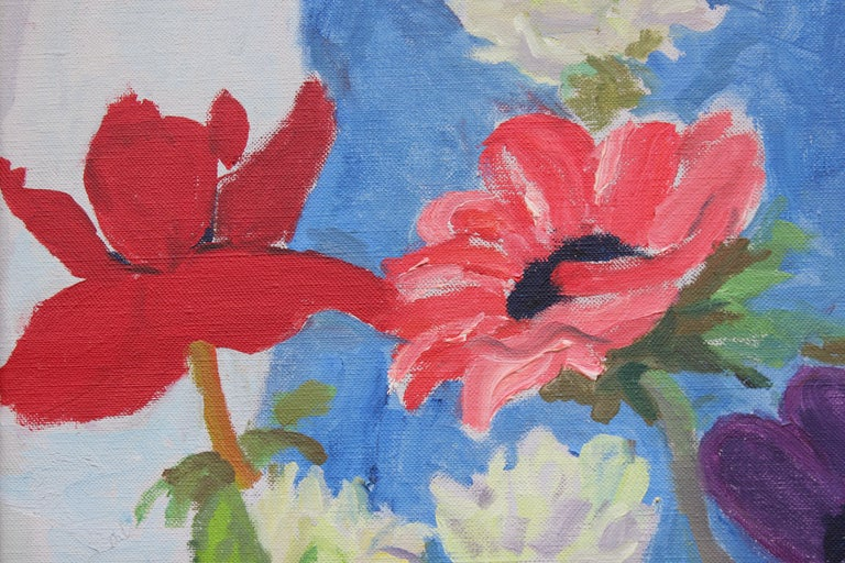 Anemones and Star of Bethlehem - Painting by Nell Blaine