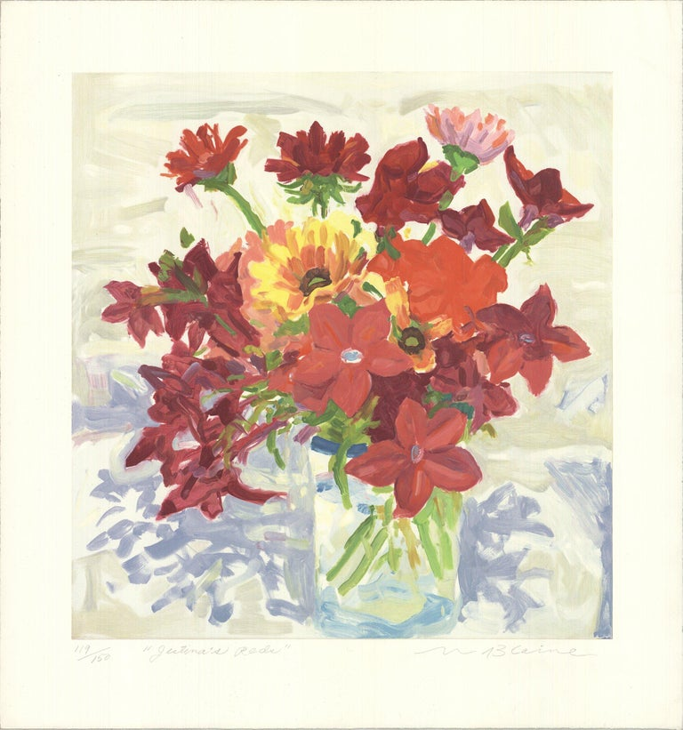 1994 Nell Blaine 'Jestina's Reds' Contemporary USA Lithograph - Print by Nell Blaine