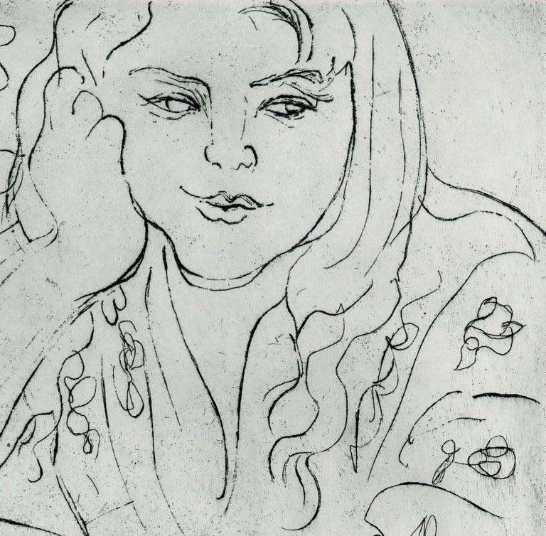 Daureen, II - Gray Figurative Print by Nell Blaine