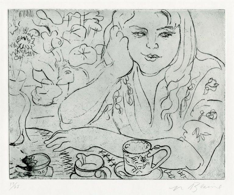 Nell Blaine Figurative Print - Daureen, II