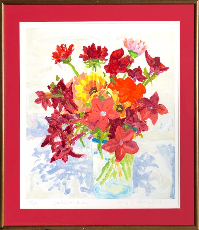 Nell Blaine Still-Life Print - Jestina's Reds