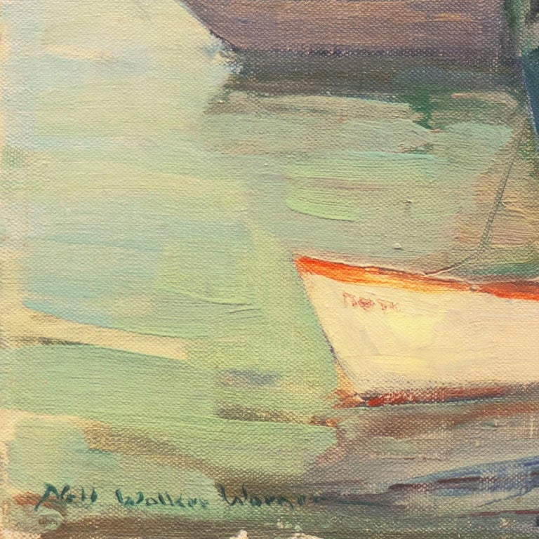 'Cape Ann Harbor', Woman Artist, Massachusetts, Rockport, Gloucester, LACMA - Painting by Nell Walker Warner