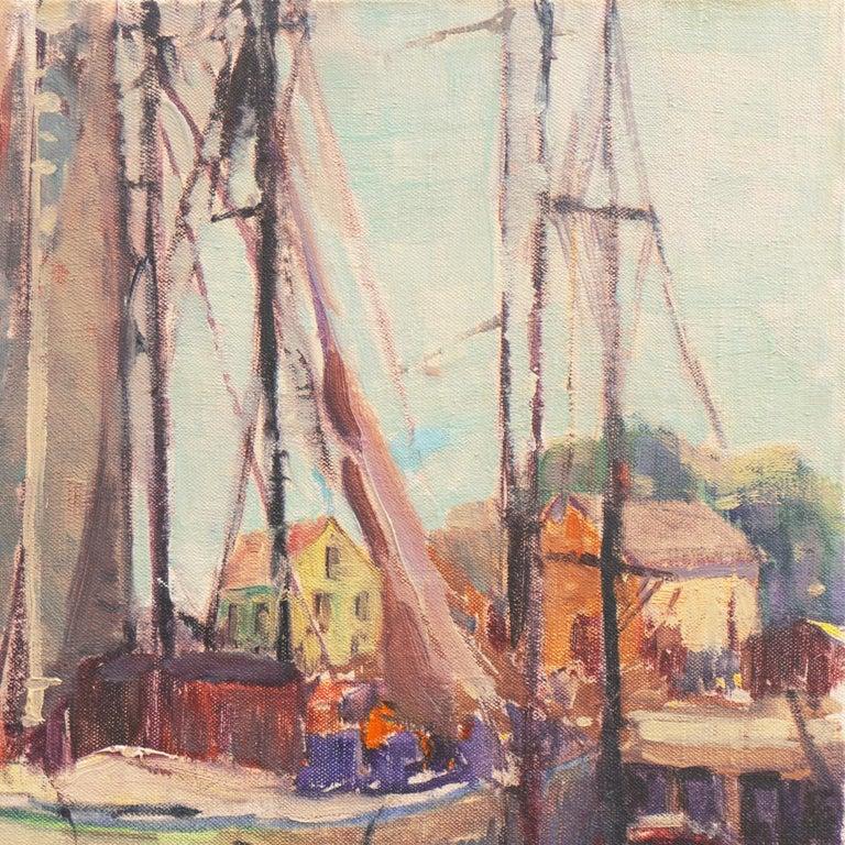 'Cape Ann Harbor', Woman Artist, Massachusetts, Rockport, Gloucester, LACMA For Sale 1