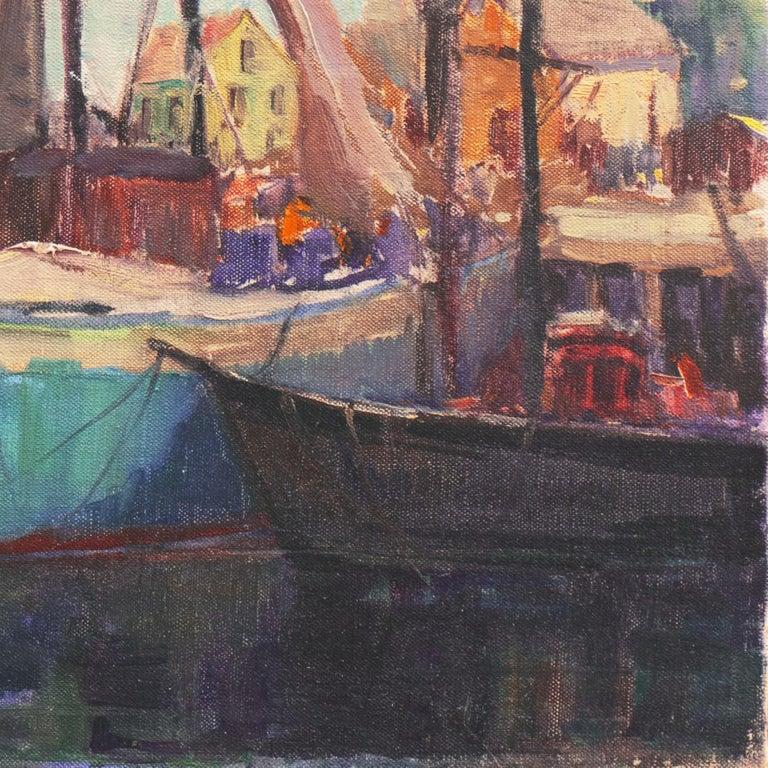 'Cape Ann Harbor', Woman Artist, Massachusetts, Rockport, Gloucester, LACMA For Sale 2