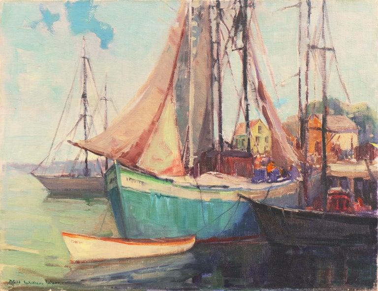Nell Walker Warner Landscape Painting - 'Cape Ann Harbor', Woman Artist, Massachusetts, Rockport, Gloucester, LACMA