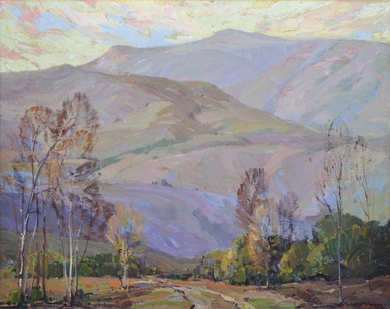 Mid Century Santa Paula Mountains - Painting by Nell Walker Warner