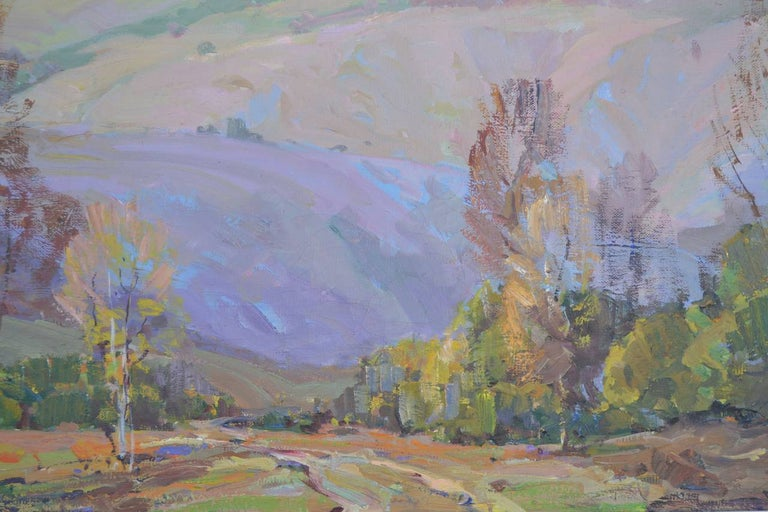 Mid Century Santa Paula Mountains - American Impressionist Painting by Nell Walker Warner