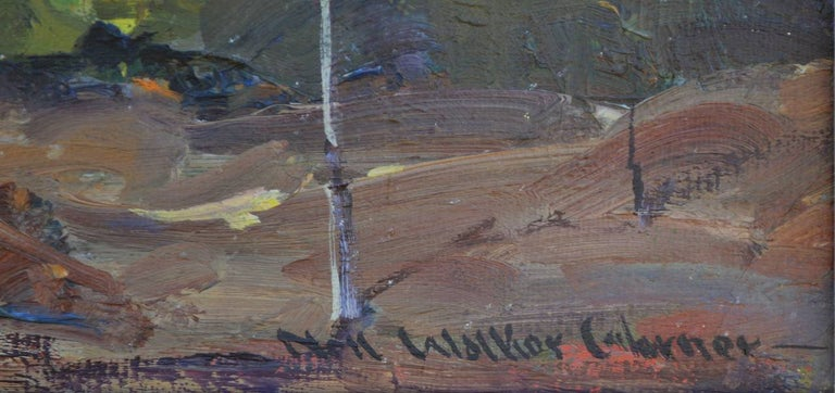 Mid Century Santa Paula Mountains - Gray Landscape Painting by Nell Walker Warner