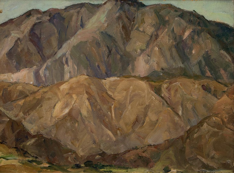 Mountain Study (Landscape) - Painting by Nellie Augusta Knopf