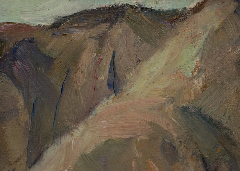 Oil painting by Nellie Knopf (1875-1962), titled on reverse